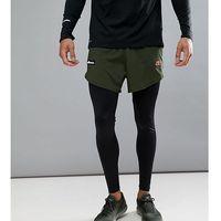 Ellesse Sport Running Tights With Short Layer - Black, w 5 rozmiarach