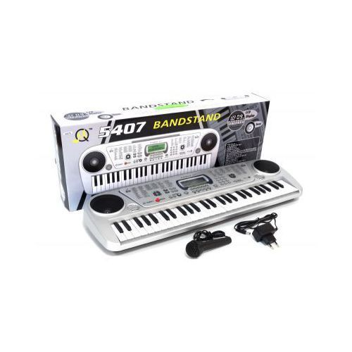 Organy/keyboard elektroniczny + mikrofon + ekran lcd + zasilacz 230v... marki Mq