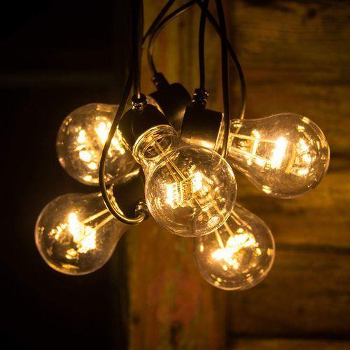 Łańcuch z led lm, widoczne żarniki, bursztyn marki Konstmide