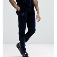 New Era Yankees Velour Joggers In Navy - Navy