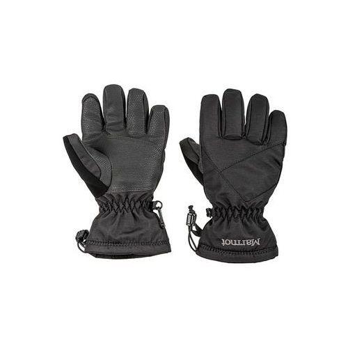 Rękawiczki pięciopalczaste glade czarne na futerku dziewczęce marki Marmot