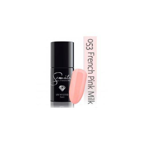lakier hybrydowy 053 french pink milk, transparentny, 7ml wyprodukowany przez Semilac