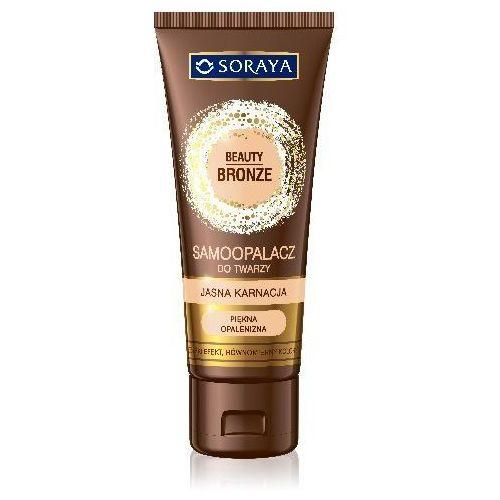 beauty bronze samoopalacz w kremie do twarzy-jasna karnacja marki Soraya