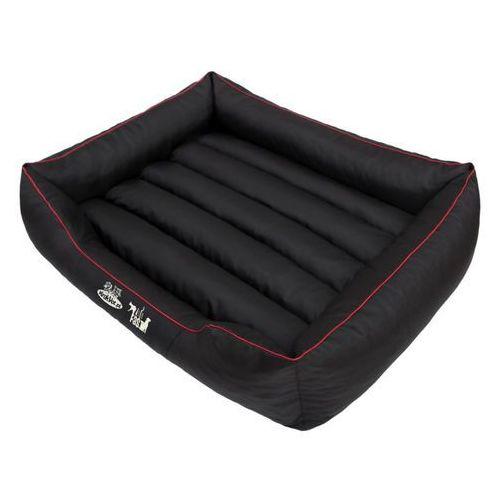 Krakvet legowisko comfort kolor: czarny z czerwoną lamówką r3 95x73cm