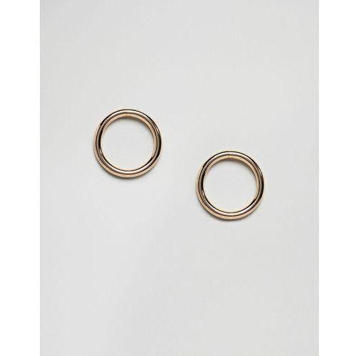 circle stud earring - gold marki Weekday