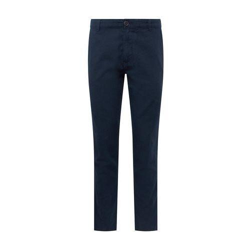 chinosy 'slhstraight-paris linen pants w' ciemny niebieski, Selected homme