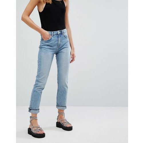 seattle high waist mom jeans with organic cotton in light blue - blue marki Weekday