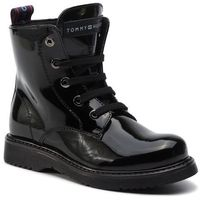Kozaki TOMMY HILFIGER - Lace-Up Bootie T4A5-30445-0765 M Black 999, kolor czarny