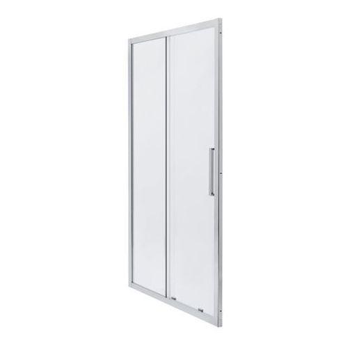 Drzwi prysznicowe przesuwne Zilia 120 x 200 cm inox/szkło transparentne (3663602769828)