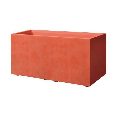 Skrzynka balkonowa 79 x 39.5 cm plastikowa czerwona CASS MIL (0726232792666)
