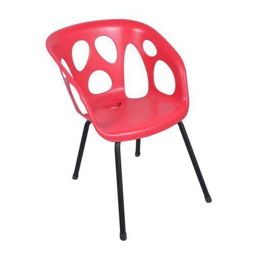 Krzesło GHOST malinowo - czarne 59x70x80cm (5907795805306)