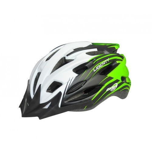 Axer bike Kask rowerowy liberty zielono-biały (rozmiar xl)
