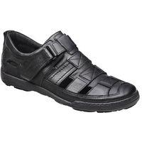 Kacper Półbuty sandały 1-4208-253 long czarne - czarny
