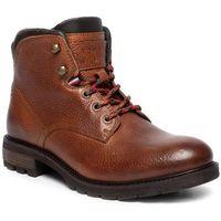 Tommy hilfiger Trzewiki - winter textured leather boot fm0fm02430 cognac 606