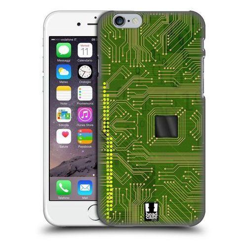 Head case Etui plastikowe na telefon - circuit boards yellow green