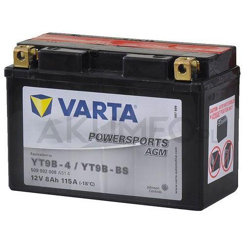 Varta Akumulator powersports agm yt9b-bs 12v 8ah 115a lewy+ (4016987127421)