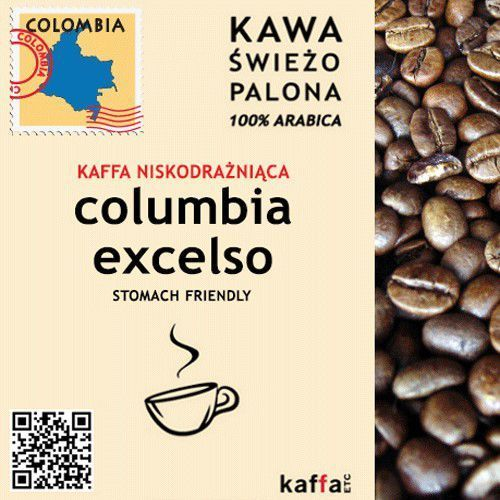 Kawa Niskodrażniaca Columbia Excelso 250 g, Niskodrażniąca 250 g