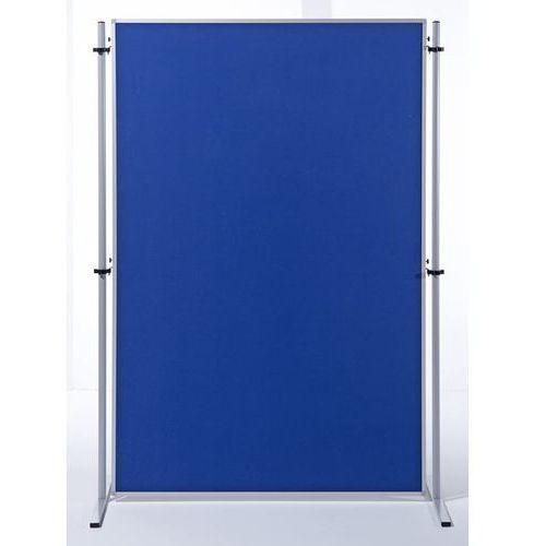 Ścianka funkcyjna, wys. x szer. 1800x1200 mm, obicie tkaniną, błękit królewski, marki Carto