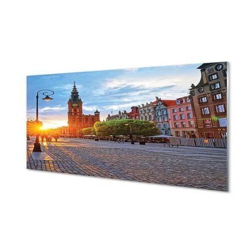 Obrazy na szkle gdańsk stare miasto wschód słońca marki Tulup.pl