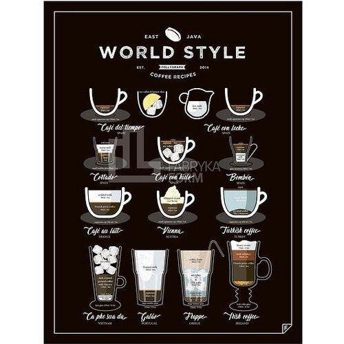 Follygraph Plakat world style coffee 40 x 50 cm