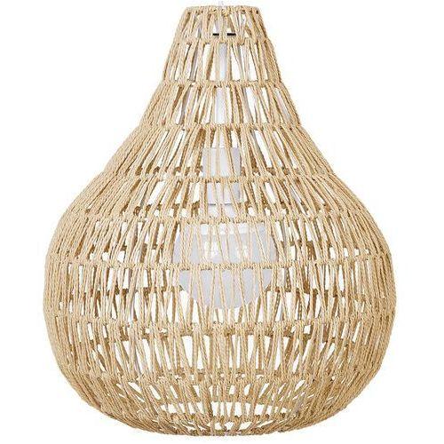 Lampa wisząca papierowa plecionka piaskowa molopo marki Beliani