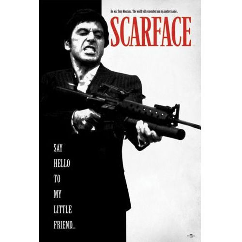 Gf Człowiek z blizną - scarface say hello to my little friend - plakat (5050574325981)