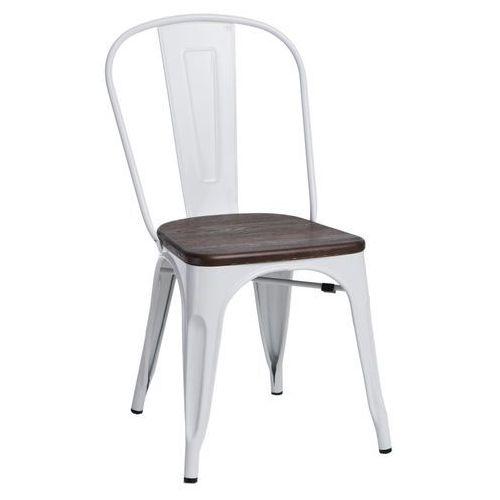 Krzesło Paris Wood białe sosna szczot. MODERN HOUSE bogata chata, kolor biały