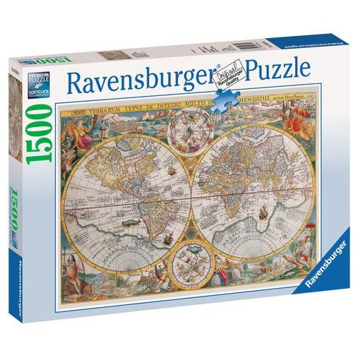 Puzzle 1500 elementów - Historyczna mapa świata