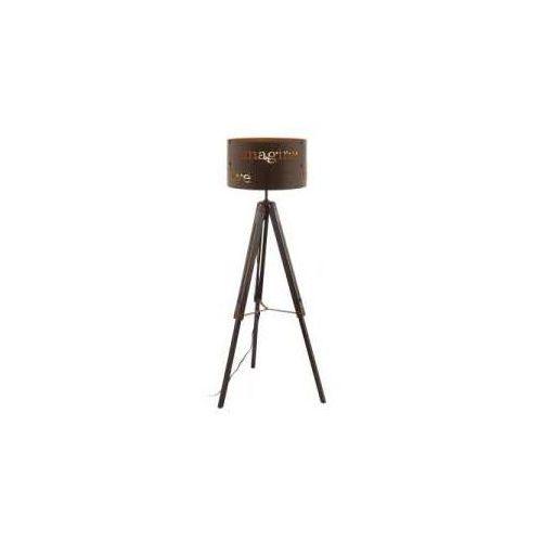 Eglo Lampa podłogowa coldingham 49793 oprawa stojąca 1x60w e27 brązowa (9002759497934)