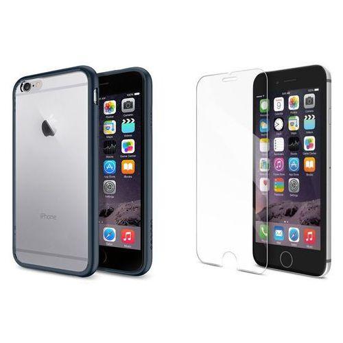Sgp - spigen / perfect glass Zestaw | spigen sgp ultra hybrid metal slate | obudowa + szkło ochronne perfect glass dla modelu apple iphone 6 / 6s