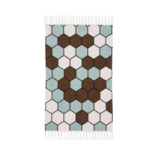 Dywan bawełniany DELIA brązowy 60 x 90 cm INSPIRE