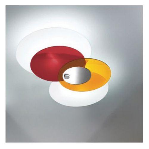 Lampa sufitowa hula hoop czerwona żarówki led gratis!, 90235 marki Linea light