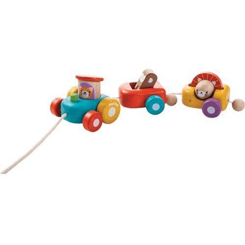 PLAN TOYS, Szczęśliwy pociąg zwierząt, zestaw drewniany - produkt z kategorii- Kolejki i tory dla dzieci