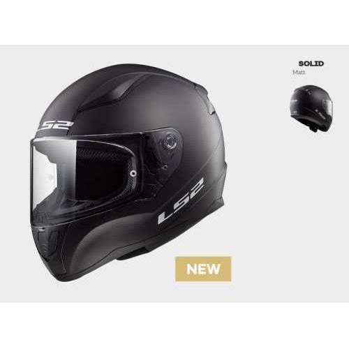 Ls2 Kask motocyklowy kask ff353 rapid solid matt black, model 2018!