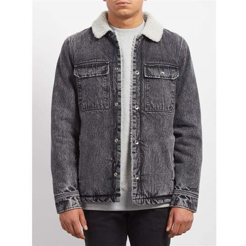 Kurtka - keaton jacket black (blk) rozmiar: l marki Volcom