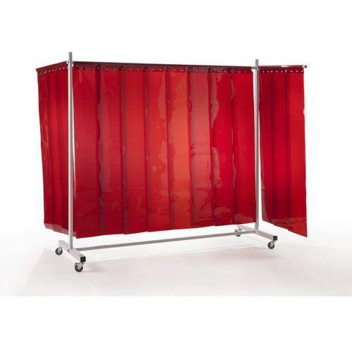 Ścianka ochronna dla spawacza premium, ruchoma,z zasłoną lamelową marki Quipo