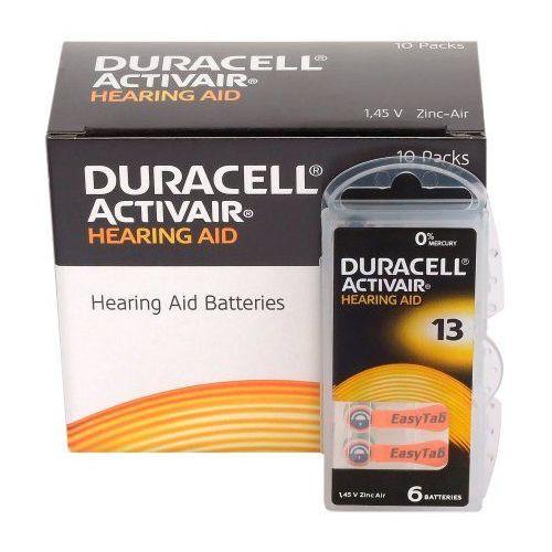 60 x baterie do aparatów słuchowych activair 13 mf marki Duracell
