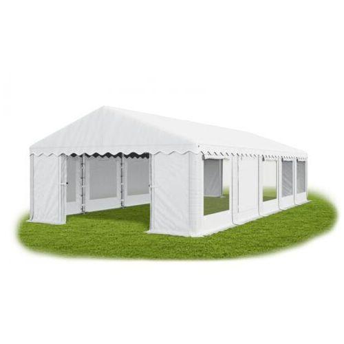 5x10x2m, całoroczny namiot cateringowy, okna z moskitierą rolowane do góry mocna konstrukcja winter pe - 50m2 marki Das company