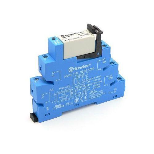 Przekaźnikowy moduł sprzęgający 14mm, 2P 8A 24V AC/DC, styki AgNi, zaciski śrubowe, szyna DIN 35mm 38.52.0.024.0060 FINDER, 38.52.0.024.0060