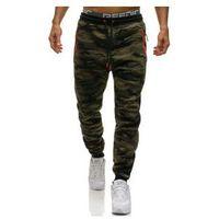 Spodnie męskie dresowe joggery moro multikolor Denley 3783F, kolor wielokolorowy