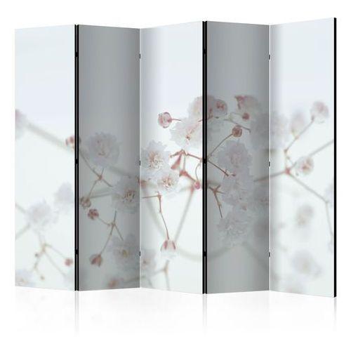 Artgeist Parawan 5-częściowy - białe kwiaty ii [room dividers]