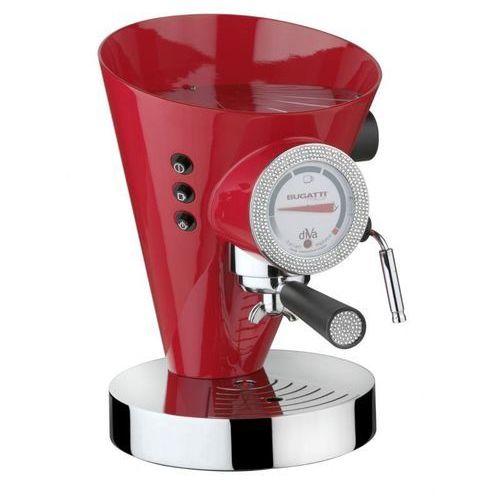 - ekspres diva - 431 kryształów swarovski ® na zegarze i uchwycie - czerwony marki Casa bugatti