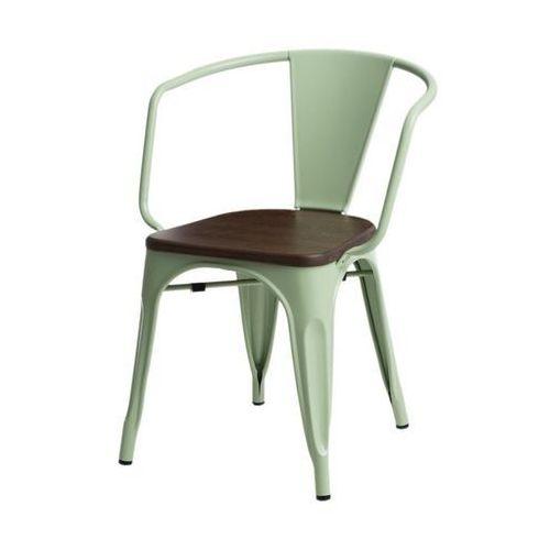 D2 Krzesło paris arms wood sosna orzech insp. tolix