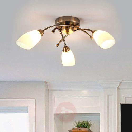 Wspaniała lampa sufitowa OPERA 3-punktowa mosiądz (5013874357472)