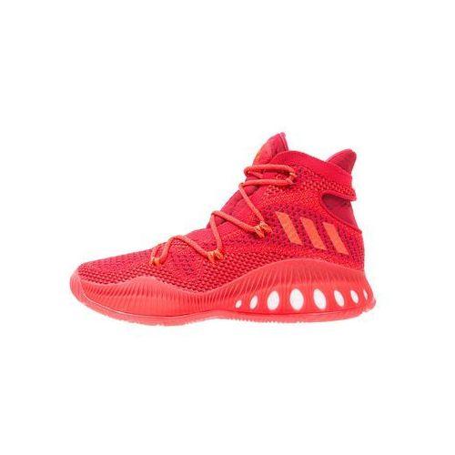 adidas Performance CRAZY EXPLOSIVE PRIMEKNIT Obuwie do koszykówki red solid/scarlet/core black, kolor czerwony