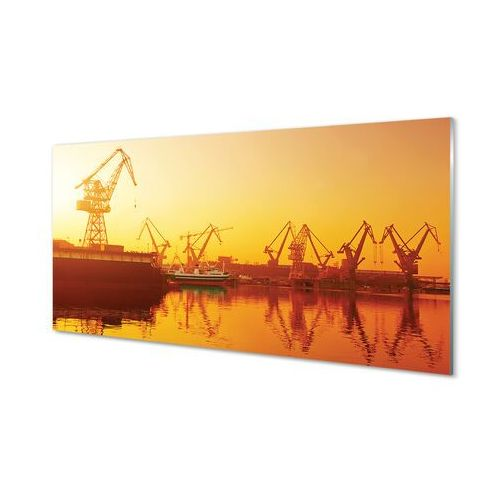Obrazy akrylowe Gdańsk Stocznia wschód słońca