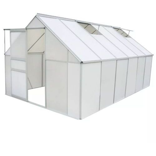 Vidaxl szklarnia z poliwęglanu i aluminium, 371 x 250 195 cm