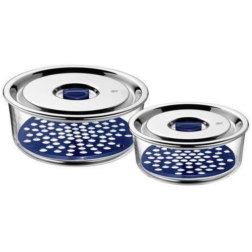 WMF Top Serve - Zestaw 2 pojemników szklanych okrągłych, 654916020