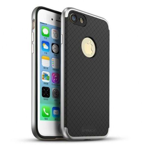 Etui iPaky Premium Hybrid iPhone 7 Silver + Szkło (5903068630750)