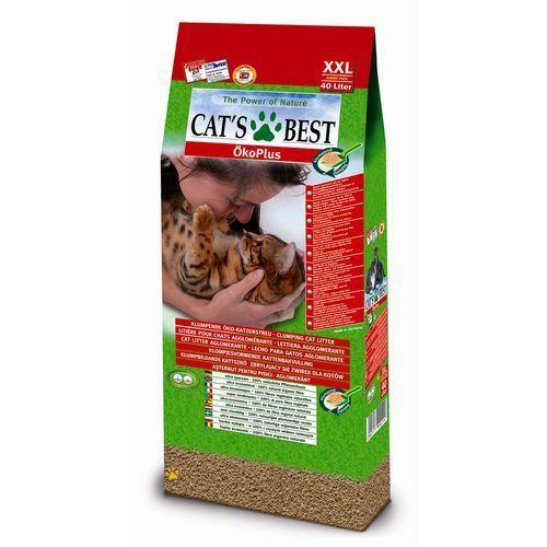 Jrs  cat's best eco plus - żwirek dla kota drewniany zbrylający 60l (25,8kg) (4002973000199)